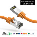 Premium Cat.8 Shielded Cables 26AWG 0.5Ft, 1Ft, 2Ft, 3Ft, 5Ft, 7Ft, 10Ft