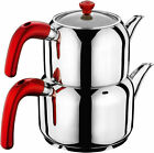 Hascevher Stainless Steel Turkish Teapot Team, Induction Compatible