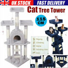 Large Cat Scratching Tree Post Activity Centre Scratcher Climbing Tower Bed UK