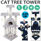 Large Cat Climb Scratching Tree Post Activity Centre Toys Scratcher Tower UK