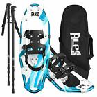ALPS Blue Snowshoes Lightweight 22/25/27/30in with Trekking Pole, Carrying bag