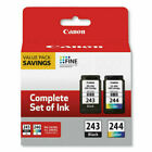 Genuine Canon PG-243 Black and CL-244 Color Ink Cartridge. NEW