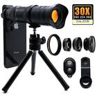 4K HD 18-30X Zoom Telephoto Phone Lens Tripod Clip For iPhone 11 XS Max 8 Plus