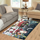 Personalized Christmas Santa Sled Newfoundland Dogs Living Room Area Rugs Mats