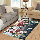 Personalized Christmas Santa Sled Springer Spaniel Dog Area Rugs Mats