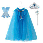 Princess Sequin Tulle Cape Cloak for Girls Costume Dress Up Play