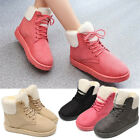 Women's Winter Warm Fur Lined Snow Ankle Boots Lace Up Casual Shoes Outd