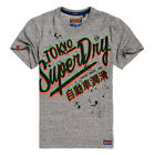 Superdry NEW Men's Ticket Type Oversized Fit Tee - Track Grey Grindle BNWT