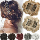 1Pcs Large Scrunchie Messy Bun Hair Extensions REAL THICK Updo Cover Ponytail US