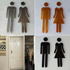 Adhesive Toilet Sign Stickers Plaque Home Restaurant Decor Accessories