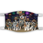 4th of July Independace Dog Cat Pet Photo Face Masks