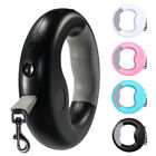 Retractable Dog Leash Ring Style Pet With LED Light Outdoor Walking Rechargeable