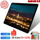 10.1inch 8 128g Android 8.0 GPS WiFi Round Hole Camera Dual SIM Card Tablet