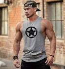 Gym Men Cotton Bodybuilding Fitness Sleeveless Vest Muscle Athletic Tank Top