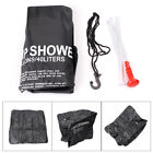 PVC 40L Portable Solar Heated Shower Water Bathing Bag Outdoor Camping Black hs