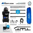 SkyVac® Mighty Atom Wet & Dry Gutter Vacuum + Clamped Poles & Inspection Camera