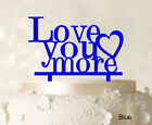 Love You More Wedding Cake Topper Personalized Cake Topper Color-9Cr