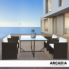 Arcadia Furniture 5 Piece Outdoor Dining Table Set Rattan Table Chairs Garden