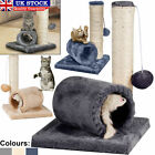 Sisal Cat Kitten Tunnel Scratching Post Bed Toy & Mouse Pet Activity Play Fun UK