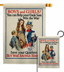 Uncle Sam Win The War Garden Flag Service Armed Forces Decorative House Banner