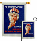 I'm Counting On You Garden Flag Service Armed Forces Decorative House Banner