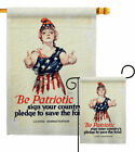 Be Patriotic Garden Flag Service Armed Forces Decorative Gift Yard House Banner