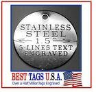 Pet Tag Custom Engraved STAINLESS STEEL Dog Cat ID Name tag >>>$3.95 Shipped!