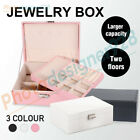Jewelry Organizer Case Box Holder Storage Earring Ring Velvet Display With Key