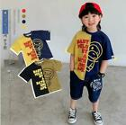Внешний вид - 2021 Kids Boy Girl Match Color Monkey Summer Shirt Top Tee T-shirt / Summer Pant