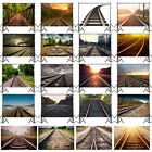 Railway Train Travel Background Cloth Photography Backdrop Props