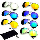 SUNGLASSES Aviator Mirrored Mens Womens UV400 New Lens Frame Color Retro Vintage