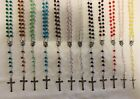 Crystal Beads Religious Rosary With Jesus On Cross