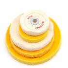 White/Yellow 50 Layers Cotton Cloth Buffing Wheel Jewelry Mirror Polisher Wheel