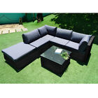 Rattan Sofa 5 Seaters Garden Furniture Set Patio Chairs And Table Outdoors
