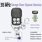 Garage Door Remote Replacement for Liftmaster Craftsman with Battery 315MHz