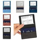 Dirty Protect Passport Cover Card Holder PU Leather CDC Cards