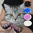 Cat Nail Caps Cat Claw Covers Kitty Caps Pet Tips with Adhesives and Applicator-