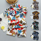 Toddler Boys Baby Kids Girl Floral Print Tops Shorts Outfit Set Clothes Beach