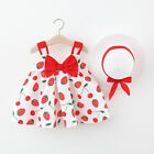 Toddler Baby Kids Girls Summer Strap Dress Princess Dresses Casual Clothes