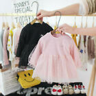 Newborn Infant Baby Girls Patchwork Bow Polka Dot Tulle Dress Outfits Clothes