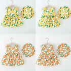 Toddler Baby Kids Girls Sleeveless Color Floral Princess Dress Hat Outfits
