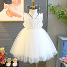 Toddler Kids Baby Girls Dress Embroidery Tulle Party Pageant Princess Dresses