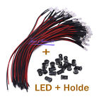 5mm LED Diode Light Clear 18cm  DC3-12V Cable Pre-Wired With Plastic Holder