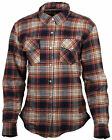Cortech MissFit Flannel Motorcycle Shirt BLACK RED