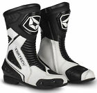 CORTECH Apex RR Air Perforated Leather Motorcycle Boots BLACK WHITE