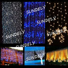 SUNDELY++300LED+String+Fairy+Lights+Icicle+Hanging+Curtain+Lamp+Christmas+Party+