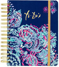 """Lilly Pulitzer Women's Hardcover Undated To Do Planner, 6.5"""" x 8.5"""", Gypsea Girl"""