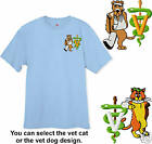 Embroidered  VETERINARIAN  VET - Cat & Dog Tee Shirt