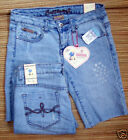 BUBBLEGUM USA LOGO DENIM BERMUDA SHORTS JR/MISSES NEW