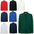 FRUIT OF THE LOOM PREMIUM 100% COTTON LONG SLEEVE POLO